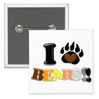 I Liebe-Bären Button