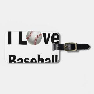 I Liebe-Baseball Gepäckanhänger