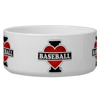 I Liebe-Baseball Napf