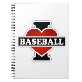 I Liebe-Baseball Spiral Notizblock