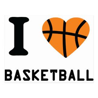 I Liebe-Basketball Postkarte
