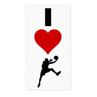 I Liebe-Basketball (vertikal)