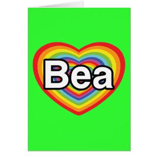 I Liebe Bea, Regenbogenherz Karte