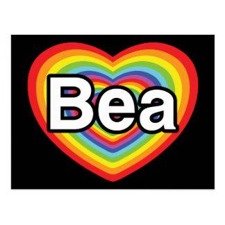 I Liebe Bea, Regenbogenherz Postkarte