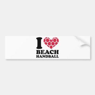 I Liebe Beachhandball Autoaufkleber