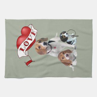 I Liebe-Beagles Geschirrtuch