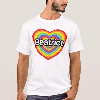 I Liebe Beatrice, Regenbogenherz T-Shirt