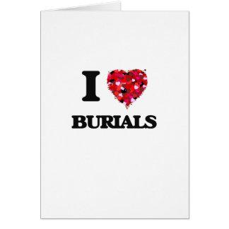 I Liebe-Beerdigungen Grußkarte