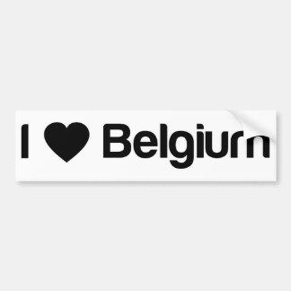 I Liebe Belgien Autoaufkleber