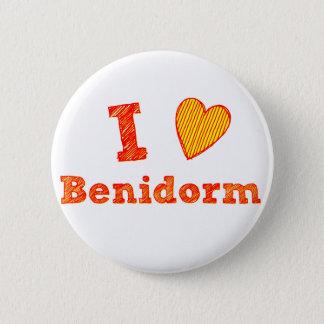 I Liebe Benidorm Runder Button 5,1 Cm
