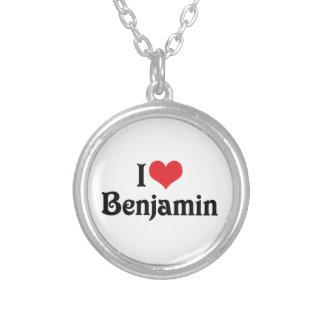 I Liebe Benjamin Versilberte Kette
