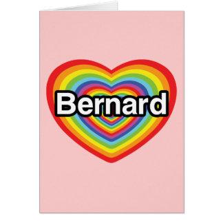 I Liebe Bernard: Regenbogenherz Karte