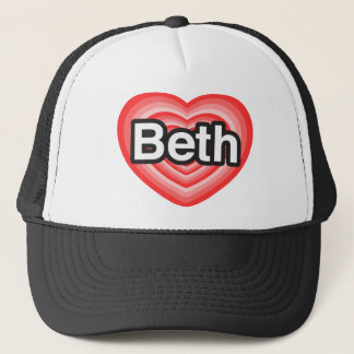I Liebe Beth. Liebe I Sie Beth. Herz Truckerkappe