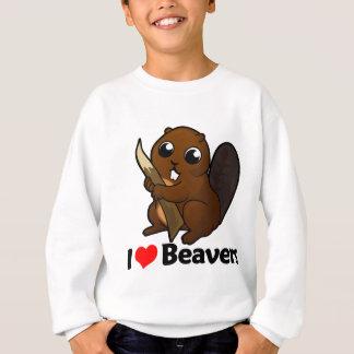 I Liebe-Biber Sweatshirt