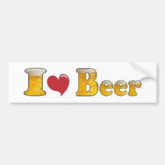 I Liebe-Bier Autoaufkleber