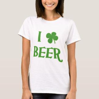 I Liebe-Bier-St Patrick Tag T-Shirt