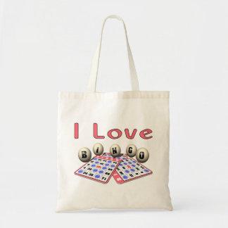 I Liebe-Bingo Budget Stoffbeutel