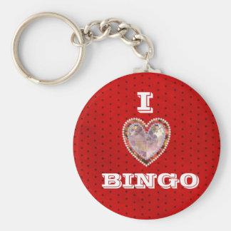 I Liebe-Bingo keychain Standard Runder Schlüsselanhänger