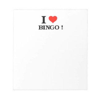 I Liebe-Bingo Notizblock