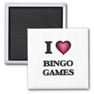 I Liebe-Bingo-Spiele Quadratischer Magnet