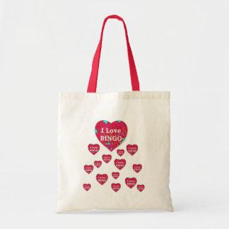 I Liebe-Bingo-Tasche Budget Stoffbeutel