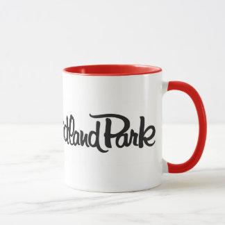 I Liebe-binnenländische Park-Tasse - Blendungs-Rot Tasse