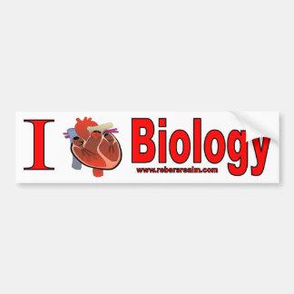 I Liebe-Biologie Autoaufkleber