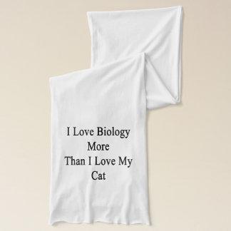 I Liebe-Biologie mehr als i-Liebe meine Katze Schal