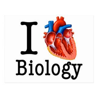 I Liebe-Biologie Postkarte
