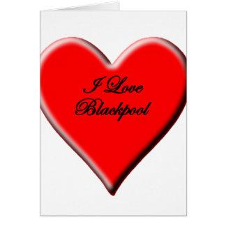 I Liebe Blackpool Karte