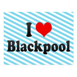 I Liebe Blackpool, Vereinigtes Königreich Postkarte