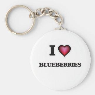 I Liebe-Blaubeeren Schlüsselanhänger