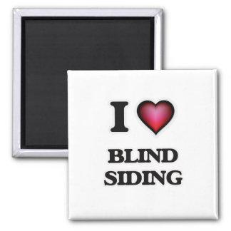 I Liebe-blindes Abstellgleis Quadratischer Magnet