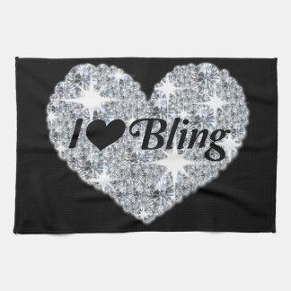 I Liebe Bling Küchen-Tuch im Schwarzen Küchentuch