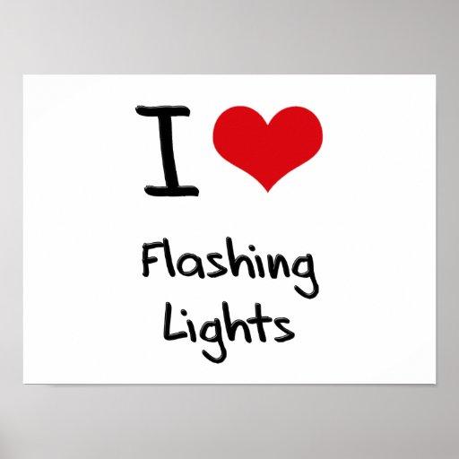 I Liebe-Blitzen-Lichter Plakat