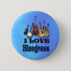 I LIEBE BLUEGRASS-BUTTON RUNDER BUTTON 5,7 CM