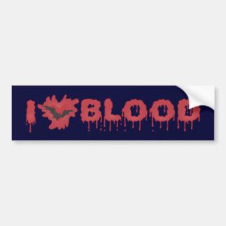 I Liebe-Blut mit Vampire-Schläger Autoaufkleber