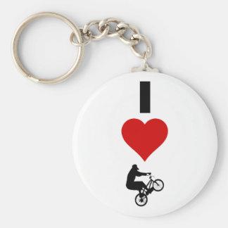 I Liebe BMX (vertikal) Schlüsselanhänger
