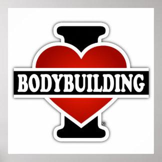 I Liebe-Bodybuilding Poster