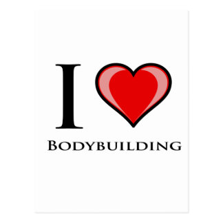 I Liebe-Bodybuilding Postkarte