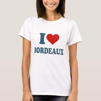 I Liebe-Bordeaux T-Shirt