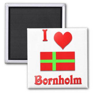 I Liebe Bornholm Kühlschrankmagnet