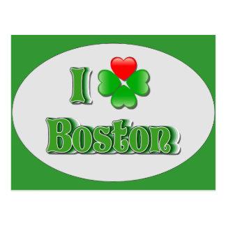 I Liebe Boston - Klee Postkarte