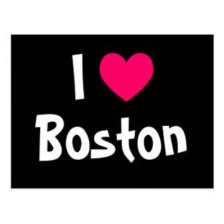 I Liebe Boston Postkarte
