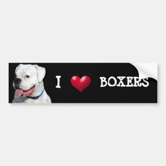 I Liebe-Boxer-Autoaufkleber