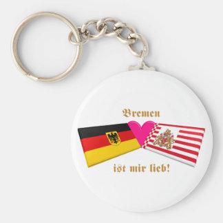 I Liebe-Bremen ist-MIR lieb Standard Runder Schlüsselanhänger