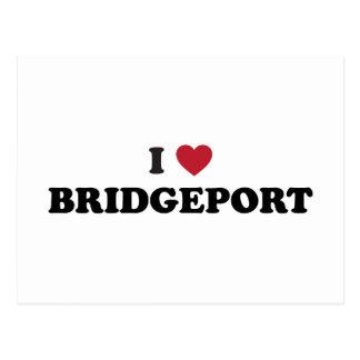 I Liebe Bridgeport Connecticut Postkarte