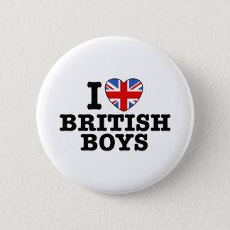 I Liebe-Briten-Jungen Runder Button 5,7 Cm