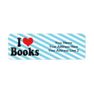 I Liebe-Bücher Rücksende Aufkleber