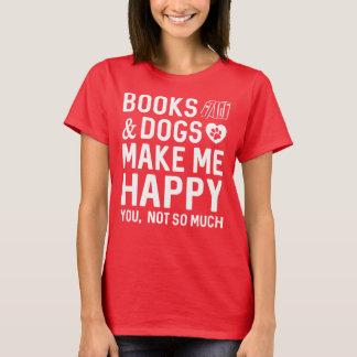 I Liebe-Bücher und Hunde T-Shirt